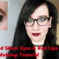 Black-And-Silver-Eyes-Red-Lips-Makeup-Tutorial