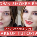 Brown-Smokey-Eyes-Orange-Lips-Makeup-Tutorial-MyPaleSkin