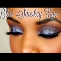 First-Impression-Maybelline-Dream-Velvet-Foundation-Blue-Smokey-Eye-Tutorial-Ellarie