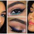 Turquoise-Gold-Eye-Makeup-With-Peach-Lips-Maquillaje-Turquesa-Y-Dorado