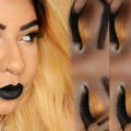 GOLD-EYE-BLACK-LIPS-Makeup-Tutorial-Nadiahardcandy