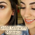 Champagne-Pop-Gold-Glowing-Makeup-