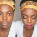 Full-Face-Drugstore-Makeup-Tutorial-Golden-Bronze-Makeup-WOC