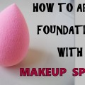 How-To-Apply-Foundation-With-Makeup-Sponge