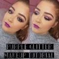 Purple-Eyes-and-Lips-Makeup-Tutorial-Chloe-Condren
