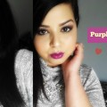 Purple-eye-shadow-makeup-purple-lips-Maquillage-violet-facile