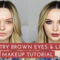 Sultry-Smokey-Brown-Eyes-Lips-Makeup-Tutorial-MyPaleSkin