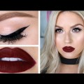 Classic-Deep-Red-Lips-Cat-Eye-Liner-Chit-Chat-GRWM