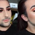 Copper-GLITTER-Smokey-Eye-Makeup-Tutorial-Morphe-35O-Palette