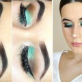Minty-Green-Glitter-Eyes-W-Peach-Lips-Makeup-Tutorial