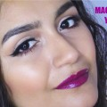 Simple-Quick-Eye-Makeup-Berry-Lips-Maquillaje-Ojos-Fcil-Y-Rapido-Labios-Berry