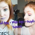 Colorful-Eyes-White-Liner-Purple-Lips-Makeup-Tutorial-awkgingy