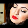 Glamorous-Party-Makeup-Tutorial-Gold-Eyes-Red-Lips-The-Power-Of-Makeup-