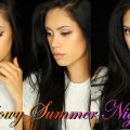 Glowy-Summer-Nights-Makeup-Tutorial-Morphe-35O-Kylie-Lip-Gloss