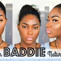 Instagram-BADDIE-Natural-Hair-and-Makeup-Tutorial-on-Dark-Skin