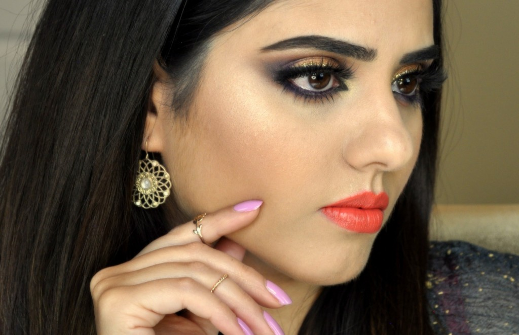 #7 Purple/Plum and Gold Glitter Liner EID INDIAN ...