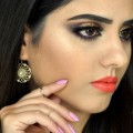7-PurplePlum-Gold-Glitter-Liner-EID-INDIANPAKISTANI-Wedding-Makeup-Coral-Lips
