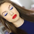 Blue-winged-eyeliner-Red-velvet-lips-Makeup-tutorial
