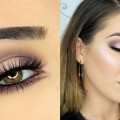 Dark-Purple-and-Pink-Halo-Smokey-Eye-Metallic-Lips-Makeup-Tutorial