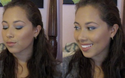 Flawless-Foundation-Blue-Ombre-Eyeshadow-Makeup-Tutorial