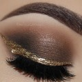 Neutral-Glamorous-Smokey-Eyes-Gold-Eyeliner-Makeup-Tutorial-Melissa-Samways-