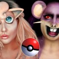 Pokemon-Jigglypuff-Rattata-Halloween-Makeup-Tutorial