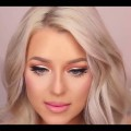 Eyes-makeup-tutorial-Glamorous-gold-smokey-eyes-red-lips-make-up-tutorial-melissa-samways