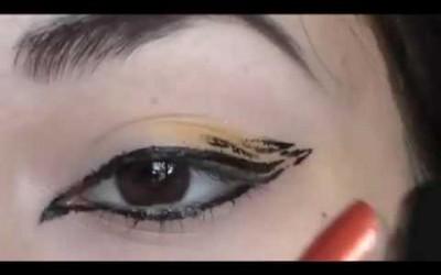 Tiger-print-eyes-make-up-tutorial
