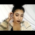 Brown-Smokey-Eyes-Chocolate-Lips-Fall-Makeup