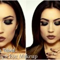 Easy-Dark-Dramatic-Makeup-Look-GreenSilver-Smokey-Eye
