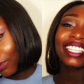 GRWM-Summer-to-Fall-Hair-and-Makeup-Glitter-Eyes-and-Middle-part-bob