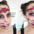 Glam-Zombie-with-Rose-Crown-Halloween-Makeup-Tutorial-EyedolizeMakeup