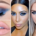 Kim-Kardashian-Inspired-Blue-Eyeshadow-Celebrity-Makeup-Tutorial