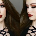 WARM-BROWN-GLITTER-SMOKEY-EYE-RUSTY-LIPS-Fall-makeup-tutorial