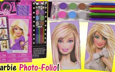 Barbie-Photo-FolioDIY-Barbie-MAKEOVER-with-Makeup-and-Hair-COLOR-Lip-Balm-SHOPKINS