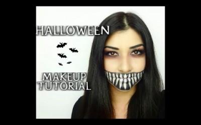 Dark-Smile-Halloween-Makeup-Tutorial-Look-Like-Celebrity