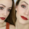 Easy-Makeup-Tutorial-for-GREEN-EYES-Day-Time-Smokey-Eye-Bold-Lips