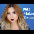 FALL-GLAM-MAKEUP-TUTORIAL-Golden-Smokey-Eye-And-Autumn-Vampy-Lips-2016-StefanySomoza