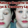 Fall-Makeup-Daytime-Smokey-Eyes-Cranberry-Lips