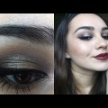 Fall-Makeup-Look-Bronzy-Halo-Eyes-Dark-Lips-Paola-Mishyn
