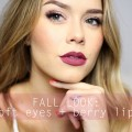 Fall-Makeup-Soft-Eyes-Berry-Lips