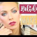 HOLIDAY-MAKEUP-wMAC-Nutcracker-Sweet-Gold-Glitter-Berry-Lips-Vlogtober-Day-28