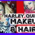 Harley-Quinn-Halloween-Makeup-Hair