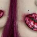 Last-Minute-Halloween-Makeup-BRAIN-LIPS-Tutorial