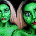 Neon-Pop-Art-Beauty-Halloween-Makeup-Tutorial