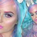 Pretty-Halloween-Makeup-Tutorial-Colorful-Unicorn-Inspired