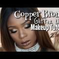 Copper-Bronze-Glitter-Lips-Holiday-Makeup-Tutorial