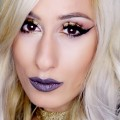 Edgy-Affordable-Makeup-TUTORIAL-Gold-Lids-Smokey-Lips-DYNA