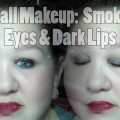 Fall-Makeup-Gray-Smokey-Eyes-Dark-Lips