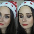 MAKEUP-LESSON-Sparkly-eyes-red-lips-for-CHRISTMAS-